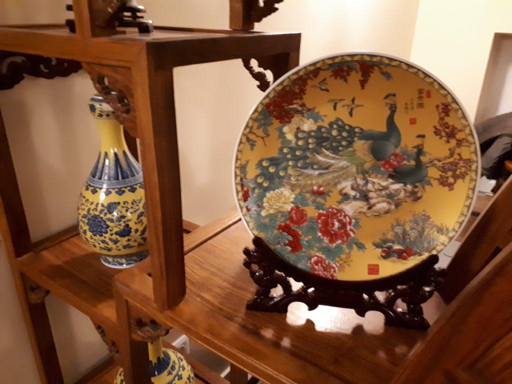 Autentikus kínai berendezés a Levél Teaházban